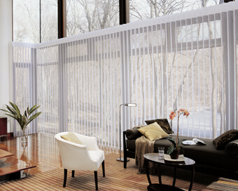 Vertical Blinds and Sheers.