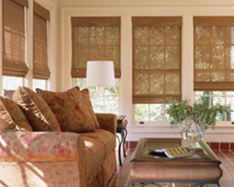 Woven Wood Shades.<div><br></div>