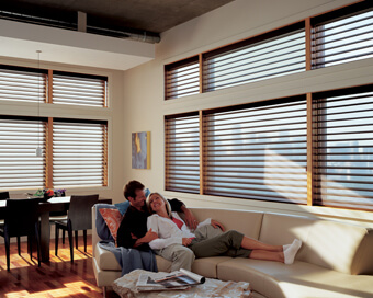 Wood and Faux Wood Blinds and Sheers.